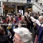 Danser Encore: Flashmob for Freedom — Gare de l'Est Railway Station, Paris, France