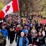 Toronto Police Make No Arrests, Allow Anti-Lockdown Protest to Proceed One Day After Doug Ford's Restrictive Lockdown Measures