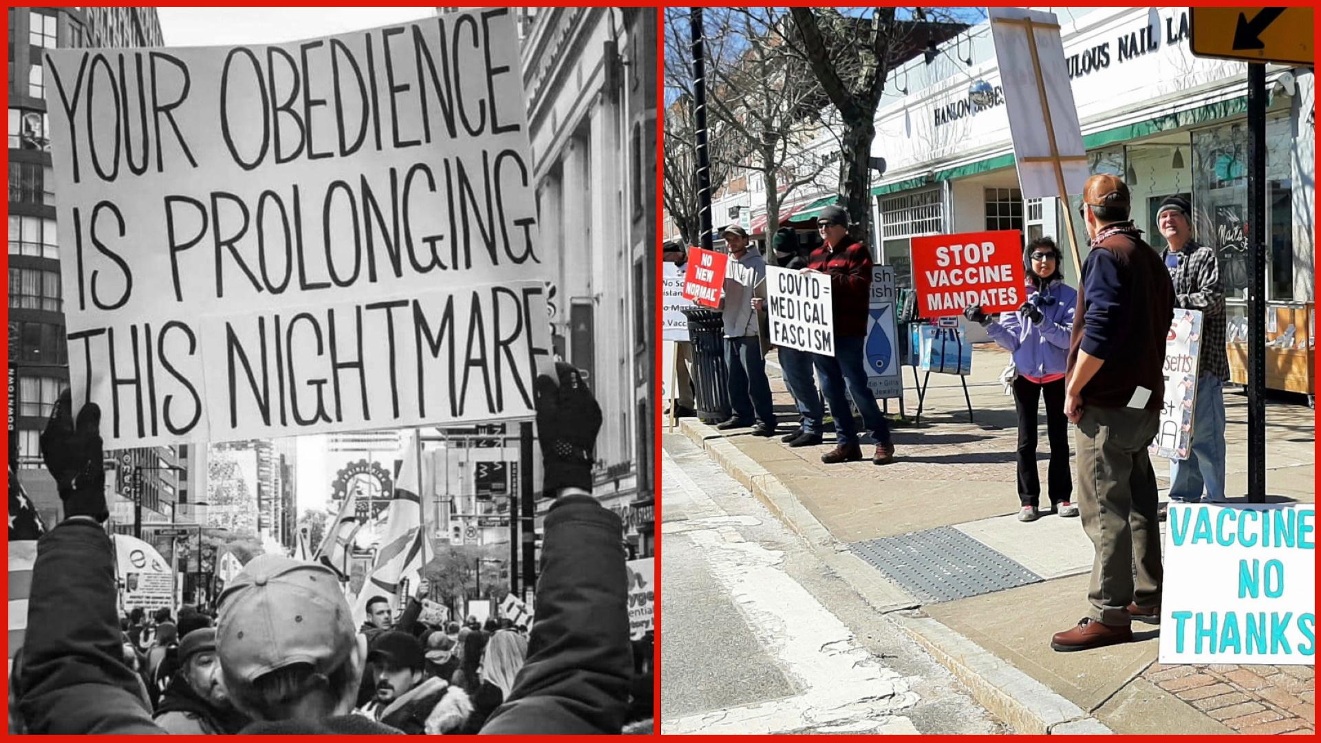 Cape Cod, Massachusetts Against Medical Mandates: Join Protest Saturday April 24, 2021 Protest2