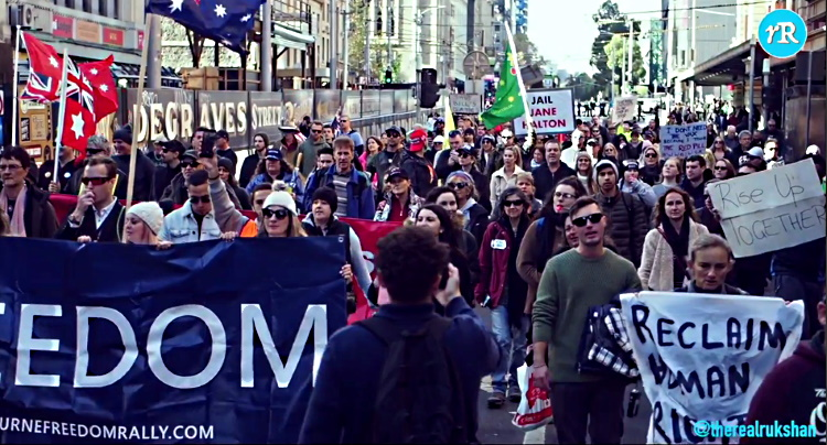 The People Are Rising: Melbourne, Australia Freedom Rally May 15, 2021 D