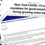 American Postal Workers Union & Public Employee Unions in NYC Oppose Mandating of COVID-19 Vaccinations