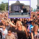 """Massive Crowd at Trafalgar Square Joins David Icke in Singing His Message to the Resistance: """"You'll Never Walk Alone"""""""