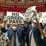 Scuffles Erupt in Italian Parliament as Group of MPs Protests Coronavirus 'Green Pass'