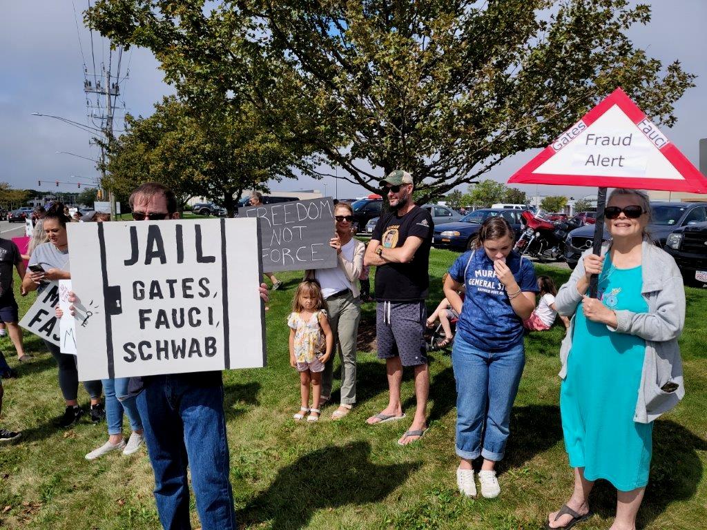 Cape Cod, Massachusetts Protest Against Medical Mandates 9_18_1