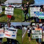 Cape Cod, Massachusetts Protest Against Medical Mandates