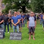 Toronto Canada: Emergency Service Personnel Silent Protest at Queen's Park Against Mandatory Jabs