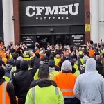 Australian Construction Workers Rally in Melbourne to Demand Their Union Oppose Mandatory Vaccination