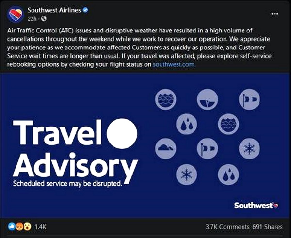 UPDATE: 1800 Flights Canceled - Sickout? Southwest Airlines Cancels 1,000 More Flights as Disruptions Increase P2